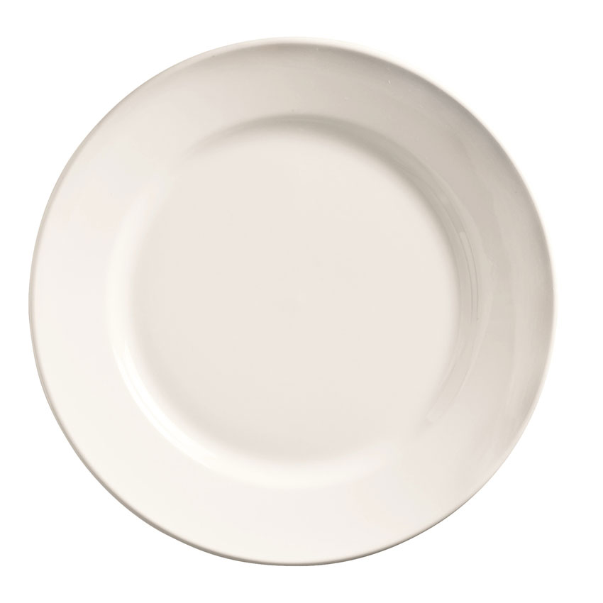 "World Tableware 840-405R-22 5.5"" Porcelain Plate w/ Wide Rim, Bright White, Porcelana"