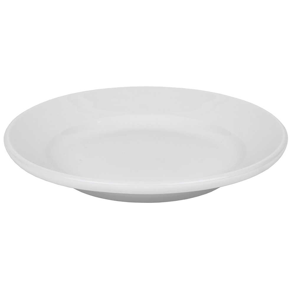 "World Tableware 840-410R-23 6.25"" Plate - Wide Rim, Rolled Edge, Porcelain, Bright White"