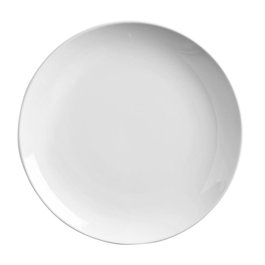 "World Tableware 840-420C 7.25"" Round Porcelain Plate, Coupe, Bright White, Porcelana"