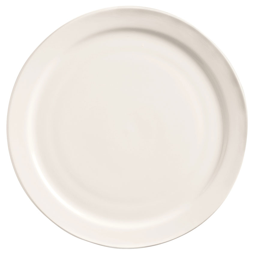 "World Tableware 840-425N-13 9"" Porcelain Plate w/ Narrow Rim, Bright White, Porcelana"