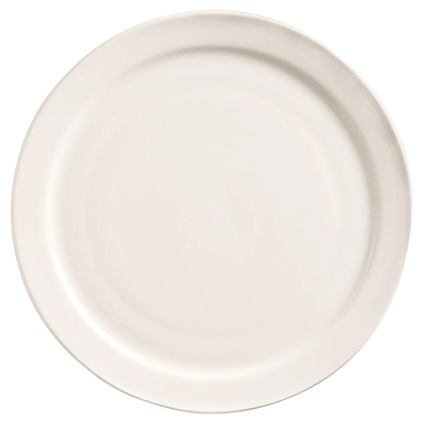 World Tableware 840-425N-13 9-in Porcelain Plate w/ Narrow Rim, Bright White, Porcelana