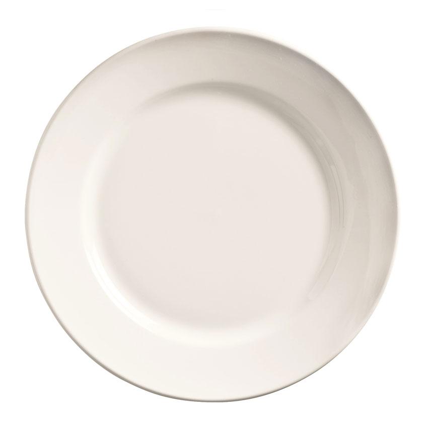 "World Tableware 840-425R-25 9"" Plate - Wide Rim, Rolled Ed"
