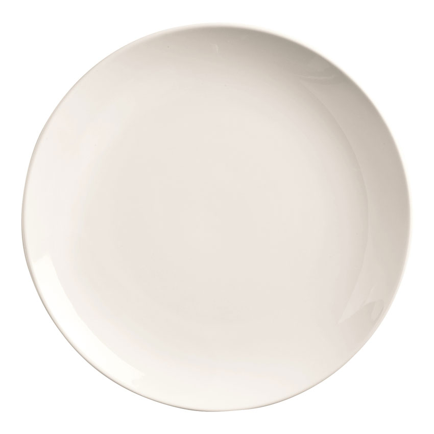 "World Tableware 840-435C 9.5"" Round Porcelain Plate, Coupe, Bright White, Porcelana"