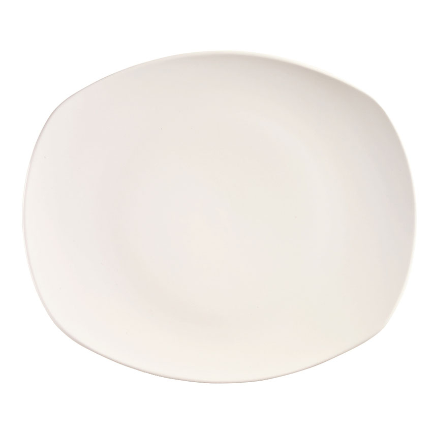 "World Tableware 840-438B Porcelain Oblong Plate, Coupe, 12x10"", Bright White, Porcelana"