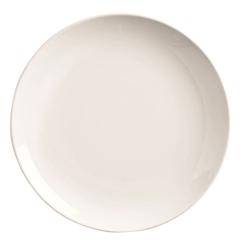 "World Tableware 840-438C 10.5"" Round Porcelain Plate, Coupe, Bright White, Porcelana"