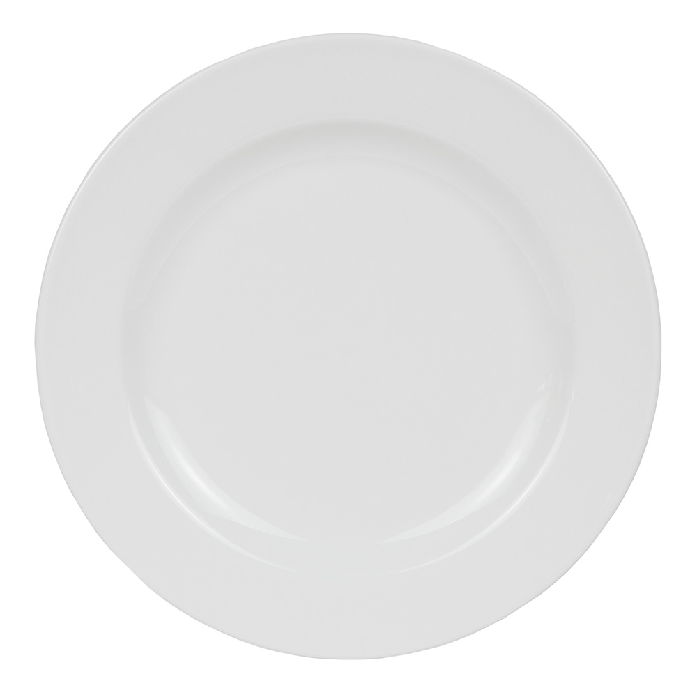 "World Tableware 840-438R-10 10.5"" Porcelain Plate w/ Wide Rim & Rolled Edge, Bright White, Porcelana"