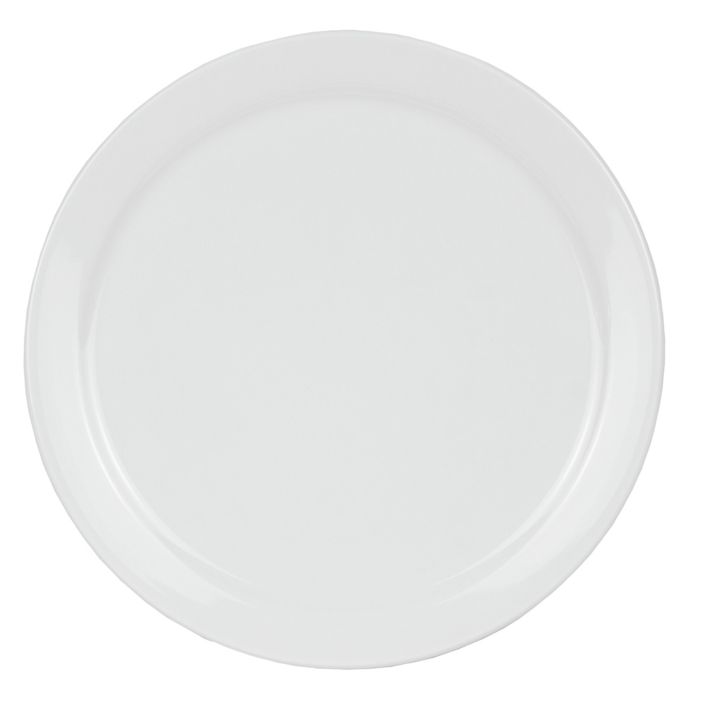 "World Tableware 840-440N-15 10.38"" Plate - Narrow Rim, Porcelain, Bright White"