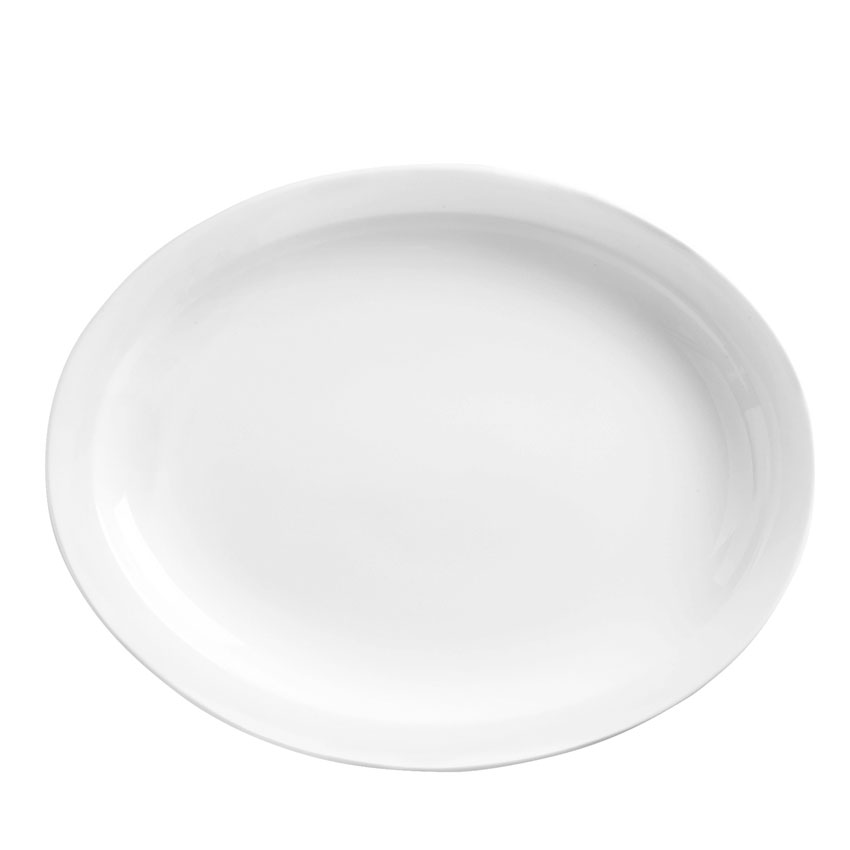 "World Tableware 840-520N-17 Platter - 11.5x9"", Oval, Narrow Rim, Porcelain, Bright White"