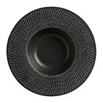 "World Tableware BB-62 13 1/2 oz, 11"" Black Dotted Line Bowl"