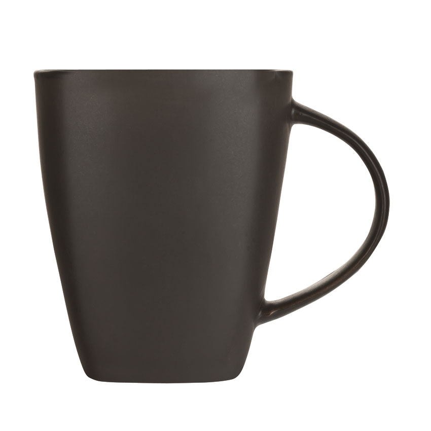 World Tableware BF-14 14-oz Hakone Mug - Ceramic, Turquoise/Dark Brown