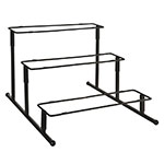 "World Tableware BF-15 13"" Rectangular 3-Tier Banquet Frame - Black"