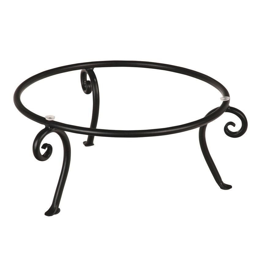 """World Tableware BF-17 5-1/2"""" Round 1-Tier Banquet Frame - Black"""