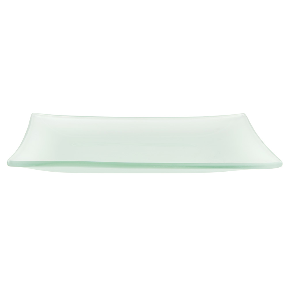 World Tableware BFP-25 Rectangular Frosted Banquet Tray - 17x11-1/2