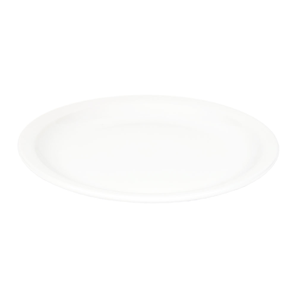 World Tableware BNR-16-BW Bright White Narrow Rim Plate, Tenacity, Round
