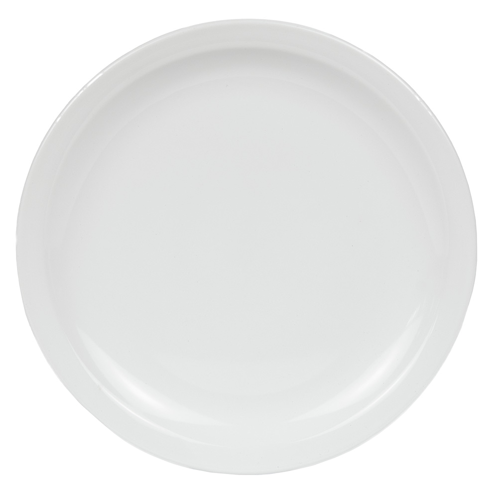 World Tableware BNR-16-BW Bright White Narrow Rim Plate, Tenacity, Round