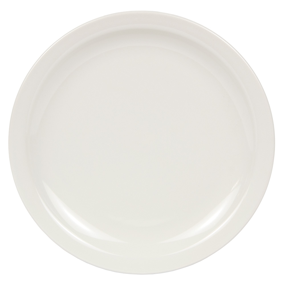 World Tableware BNR-16-CW Cream White Narrow Rim Plate, Tenacity, Round