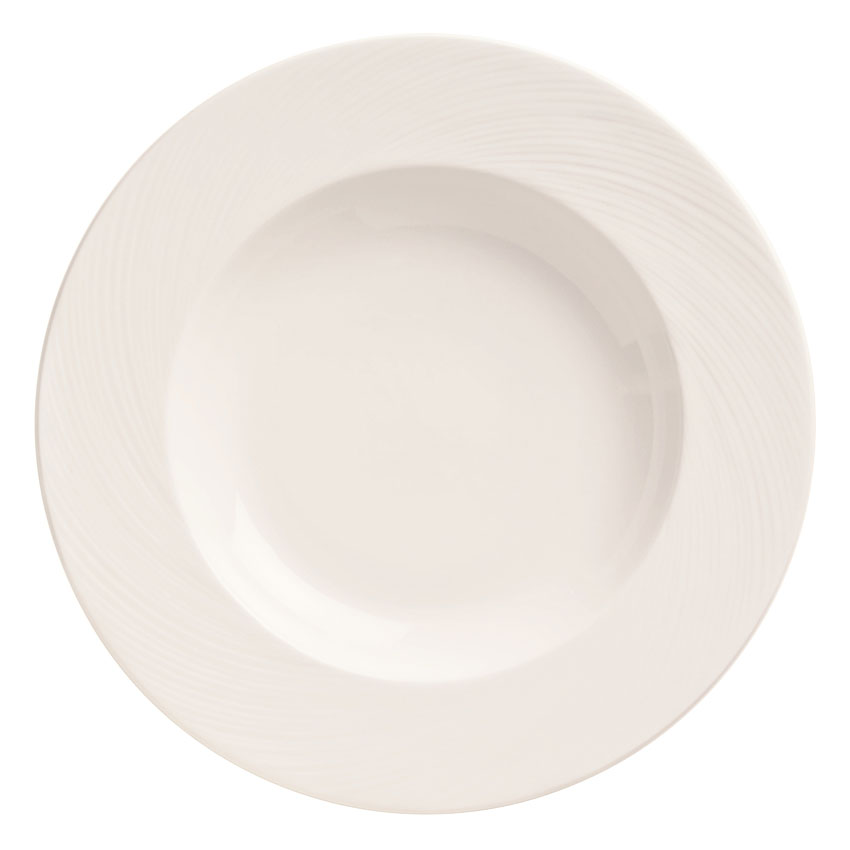 "World Tableware BO-1108 12"" Round Porcelain Pasta Bowl w/ 20-oz Capacity, Basics Collection"