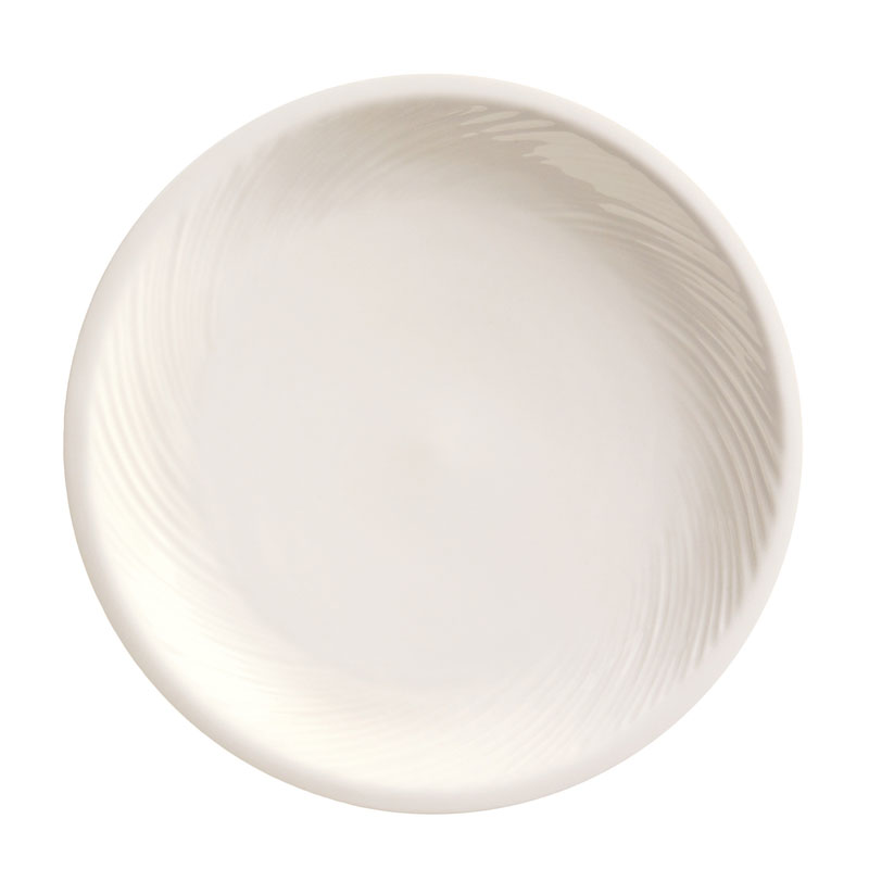 "World Tableware BO-1145 9"" Round Porcelain Pellet Plate w/ Wide Rim, Basics Collection"