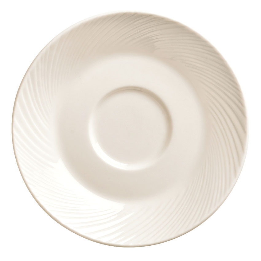 "World Tableware BO-1162 5.75"" Basics Orbis Saucer - Porcelain, Bright White"