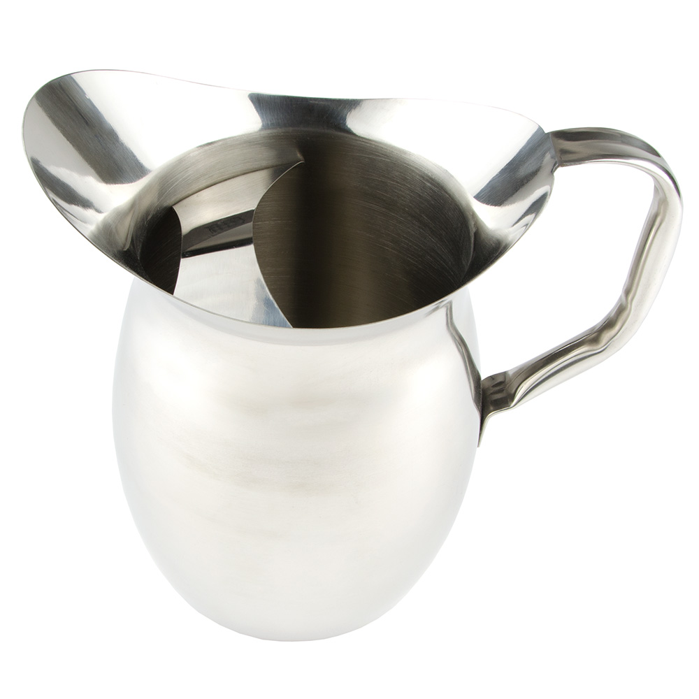 World Tableware BP-150 3-liter Belle Water Pitcher - Ice Guard, 18/8 Stainless, Satin-Finish