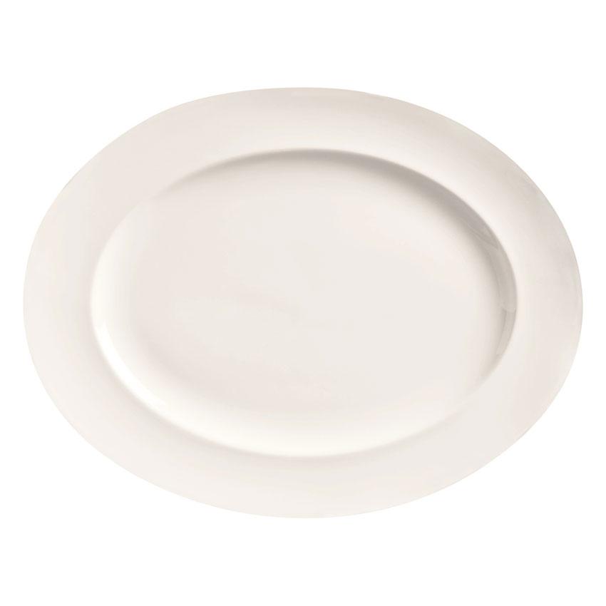 "World Tableware BW-1120 Porcelain Platter, 11.12x8.75"", Basics Collection"