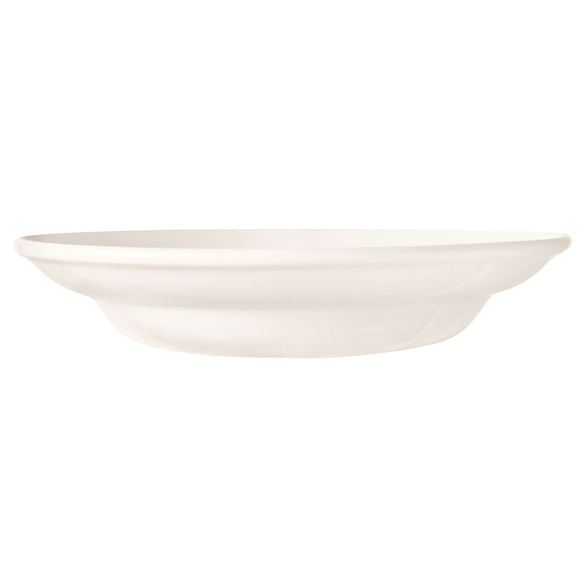 World Tableware BW-1130 9.25-in Porcelain Rimmed Soup Bowl w/ 12-oz Capacity, Basics Collection