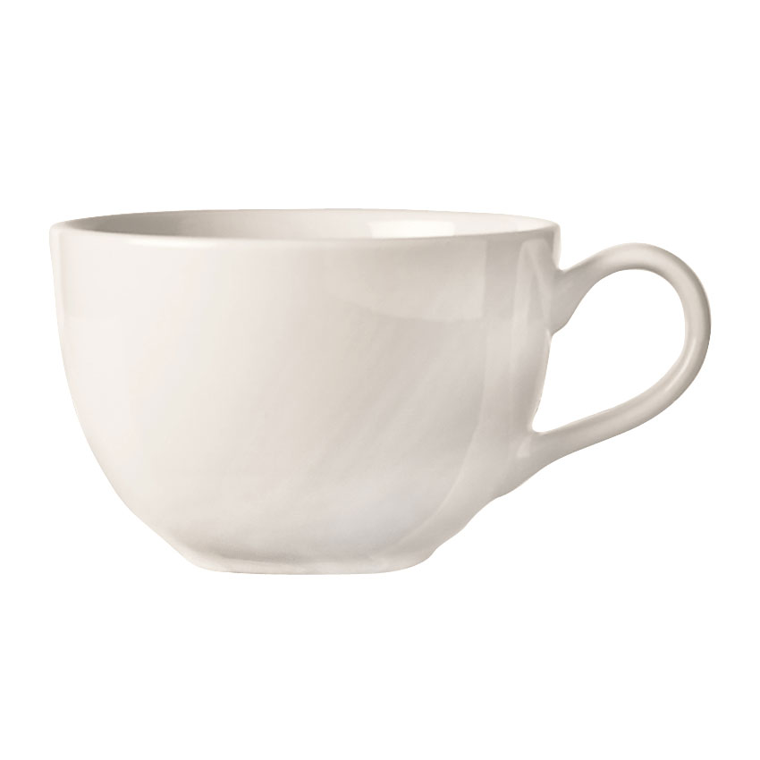 World Tableware BW-1152 7.5-oz Low Cup - Basics Collection, Porcelain, Bright White