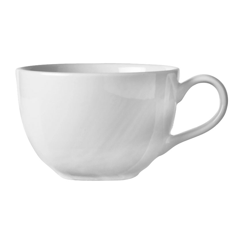World Tableware BW-1155 11.5-oz Low Cup - Basics Collection, Porcelain, Bright White