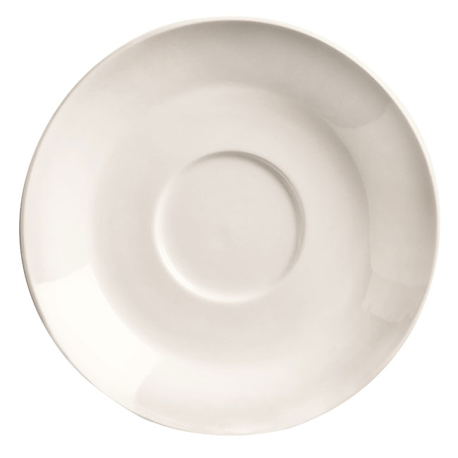 "World Tableware BW-1160 4.5"" Porcelain Espresso Saucer, Basics Collection"