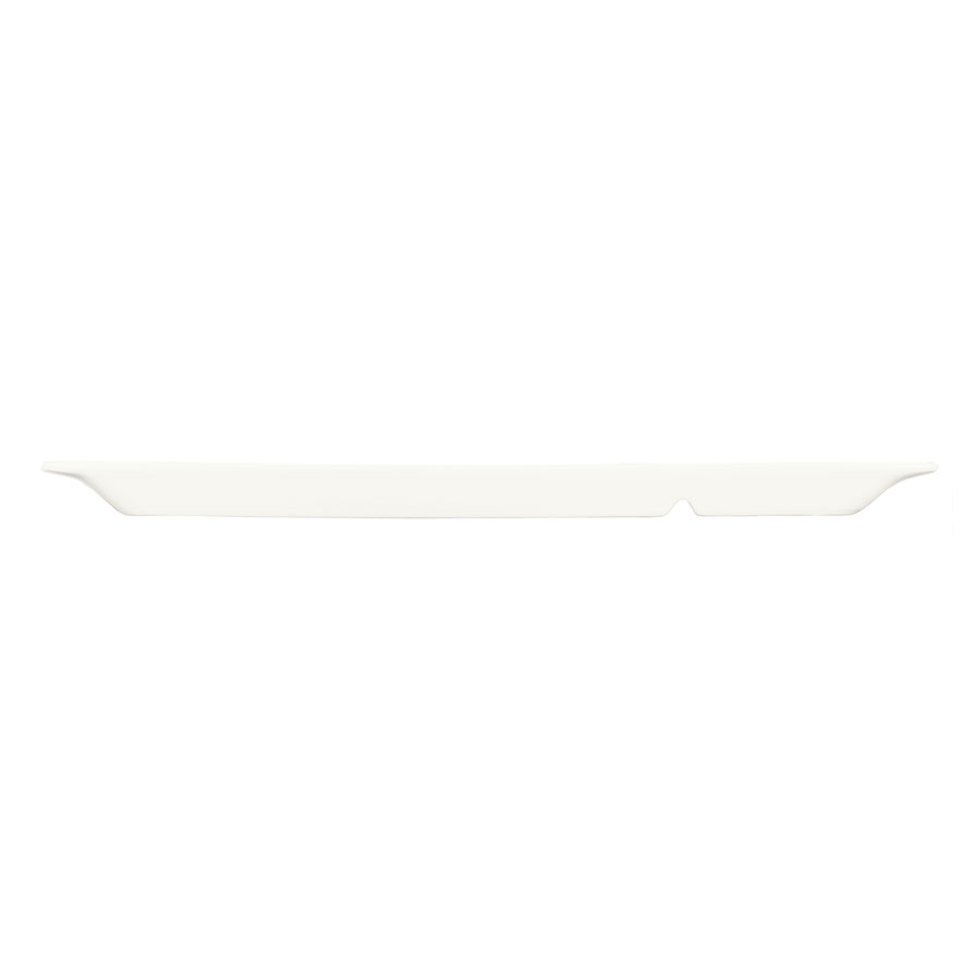 """World Tableware BW-3331 Chef's Selection Rectangular Tray - 15-1/4x6-1/4"""" Porcelain, Ultra Bright White"""
