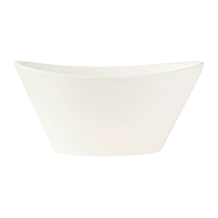 "World Tableware BW-5101 5.5"" Oval Porcelain Neptune Bowl w/ 8.5-oz Capacity, Basics Collection"
