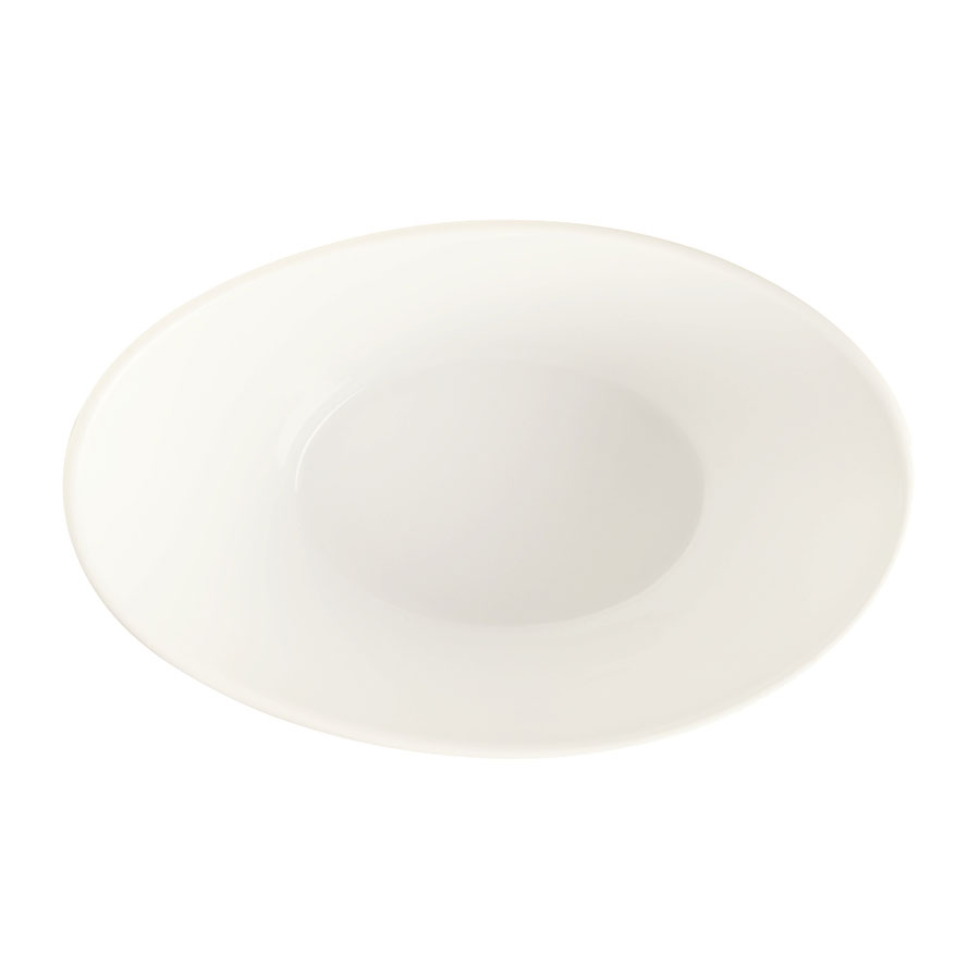 "World Tableware BW-5102 7.5"" Oval Porcelain Neptune Bowl w/ 20-oz Capacity, Basics Collection"