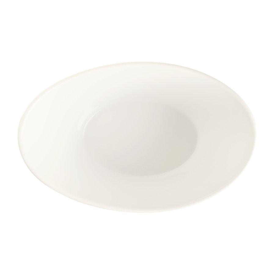 "World Tableware BW-5103 9.5"" Oval Porcelain Neptune Bowl w/ 45-oz Capacity, Basics Collection"