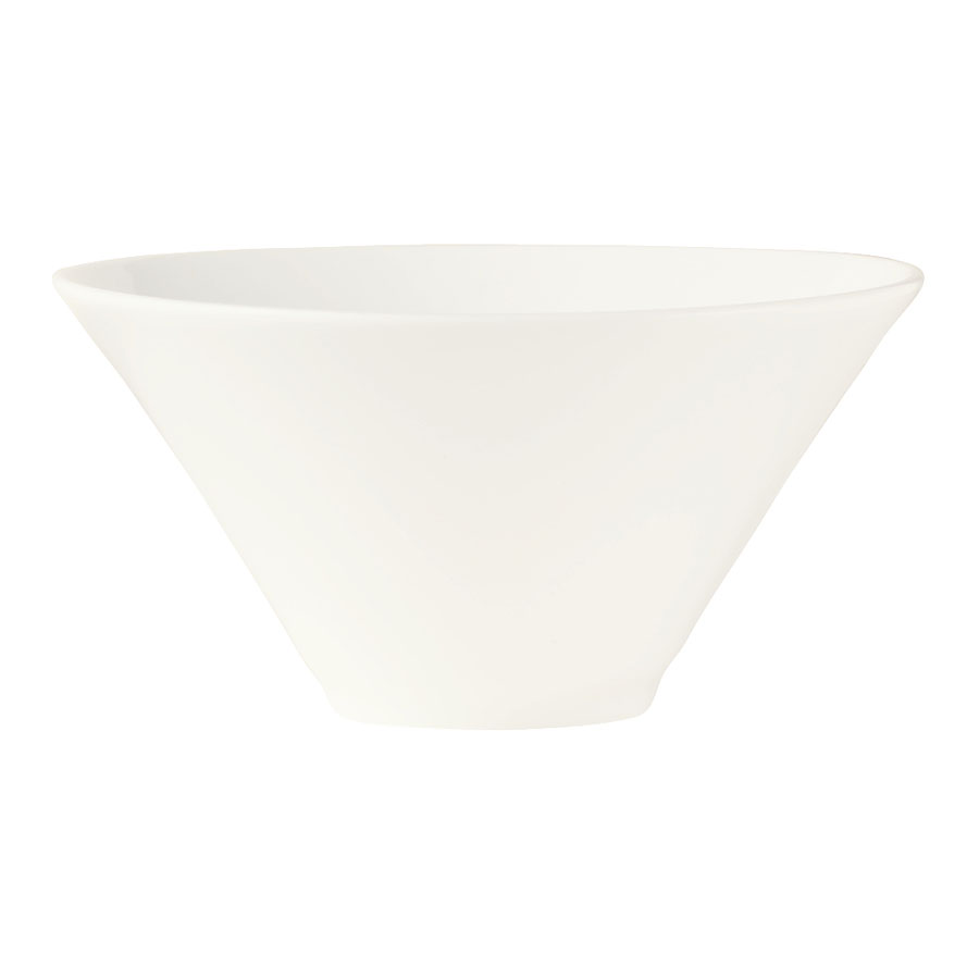 World Tableware BW-5107 16-oz Chef's Selection Conical Normandy Bowl - Porcelain, Ultra Bright White