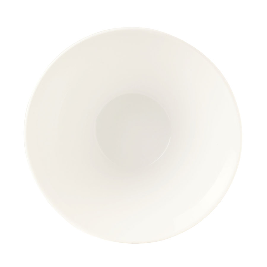 World Tableware BW-5108 45-oz Chef's Selection Conical Normandy Bowl - Porcelain, Ultra Bright White