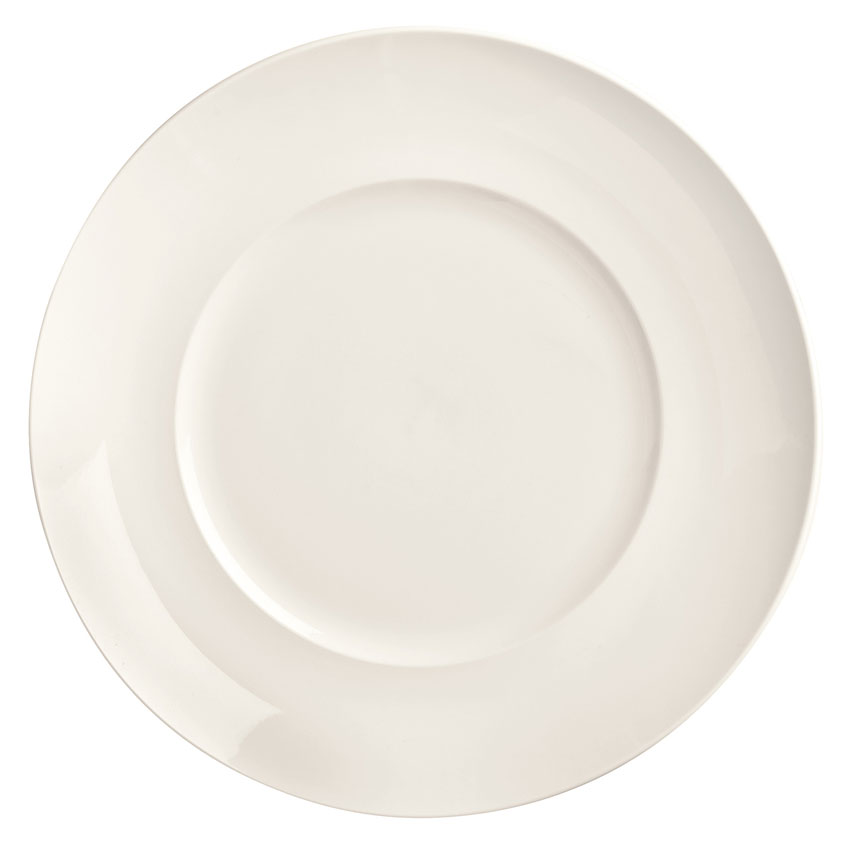 "World Tableware BW-5208 8"" Round Porcelain Plate, Coupe, Basics Collection"