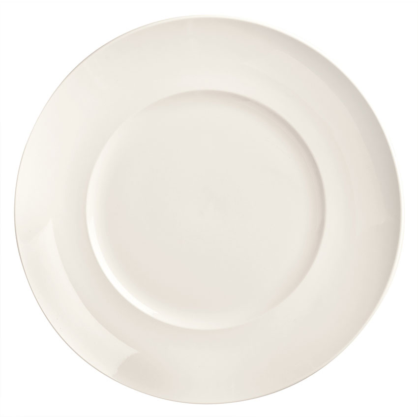 "World Tableware BW-5211 11.37"" Round Porcelain Plate, Coupe, Basics Collection"