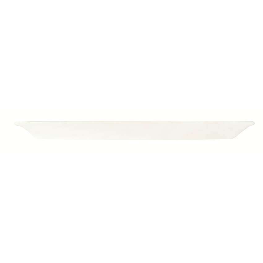 World Tableware BW-6716 Porcelain Canoe Tray, Ultra Bright White, Slate