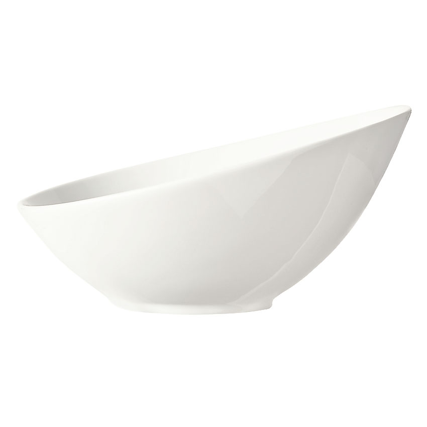 "World Tableware BW-7100 7"" Porcelain Bowl w/ 13-oz Capacity, Ultra Bright White, Belmar, Slate"