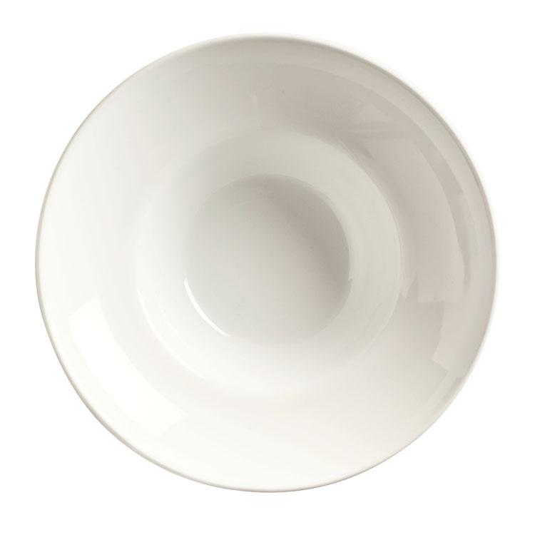 "World Tableware BW-8100 8"" Round Porcelain Bowl w/ 7-oz Capacity & Wide Rim, Sea Bright, Basics"
