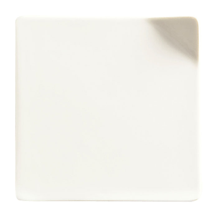 "World Tableware BW-8174 4"" Handled Porcelain Chef Select Tile, Basics Collection"