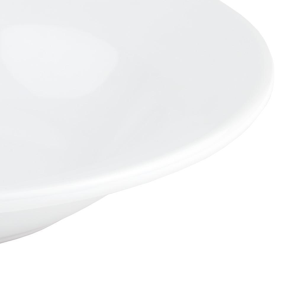 World Tableware BWR-3-BW Bright White Rolled Edge Soup Bowl, Tenacity, Round