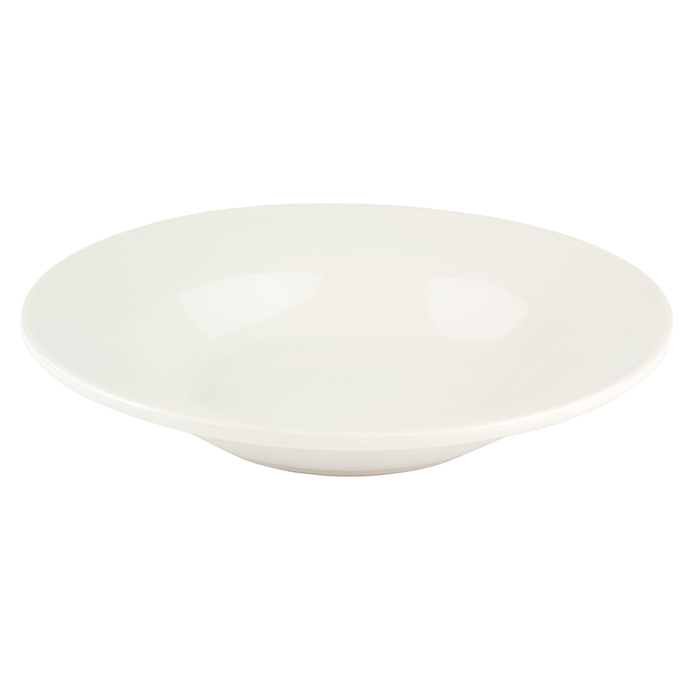 World Tableware BWR-3-CW Cream White Rolled Edge Bowl, Tenacity, Round