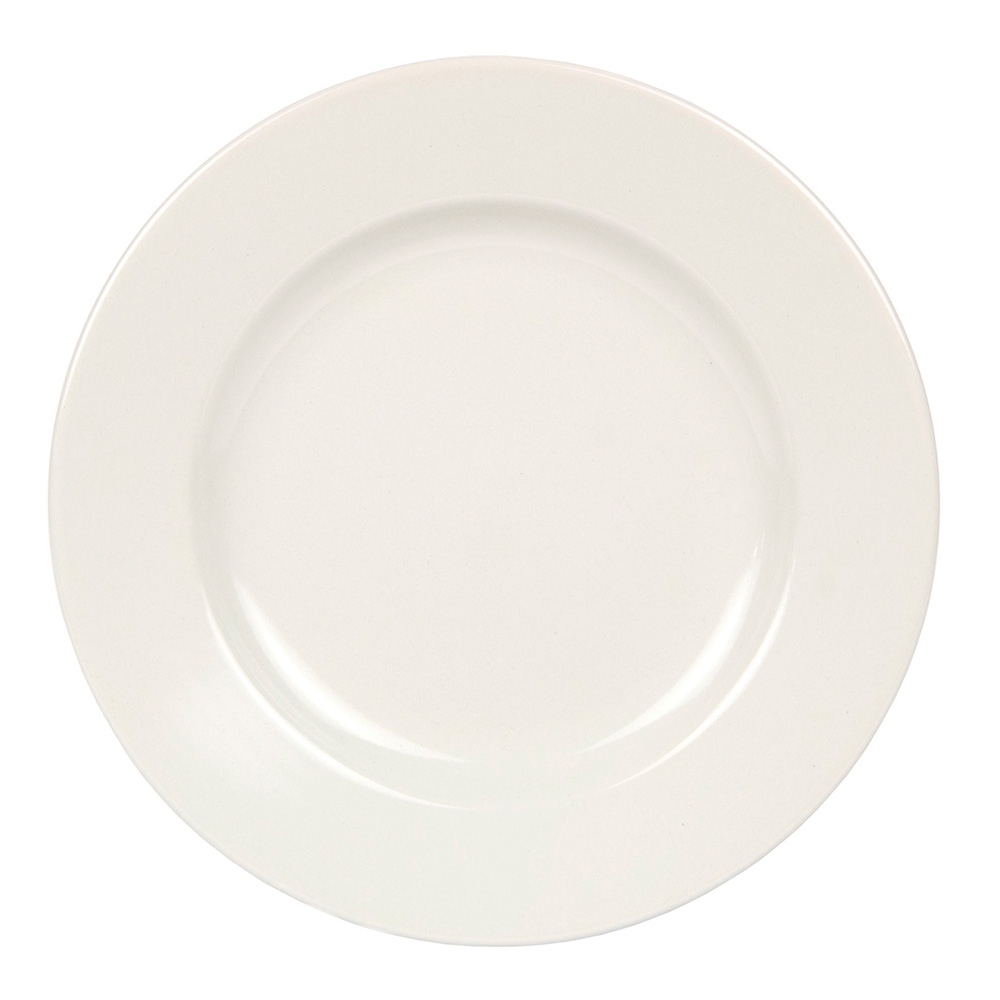 World Tableware BWR-45-CW Cream White Rolled Edge Plate, Tenacity, Round