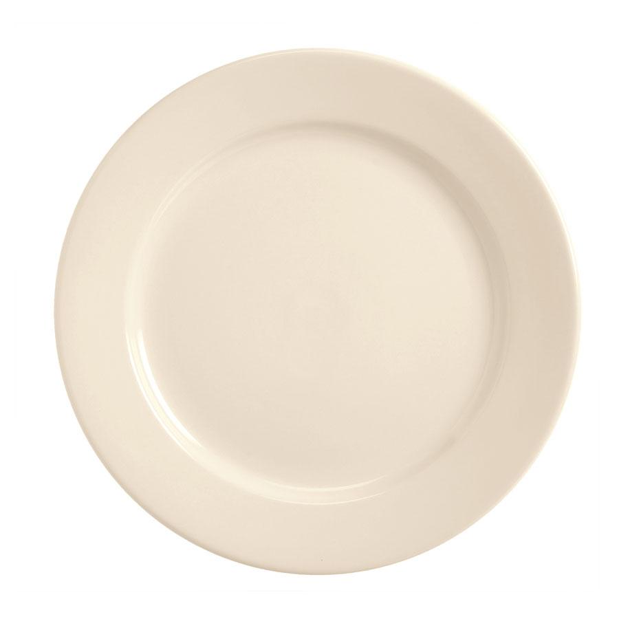 World Tableware BWR-50-CW Cream White Rolled Edge Plate, Tenacity, Round
