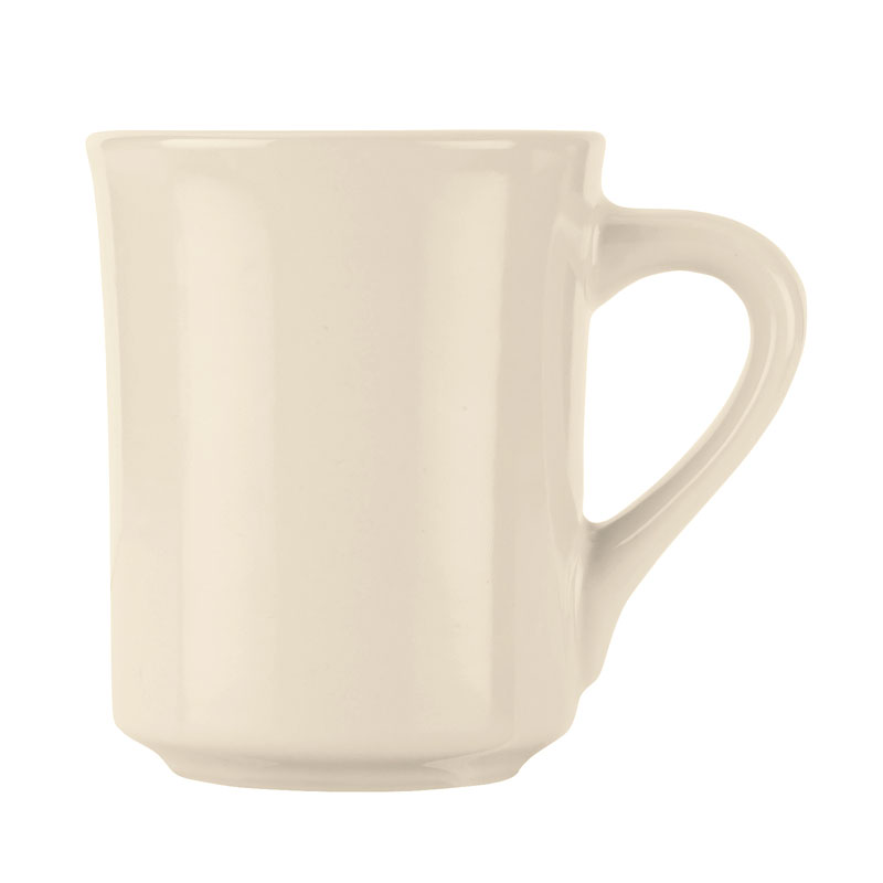 World Tableware BWR-88-CW Cream White Mug, Tenacity, Round