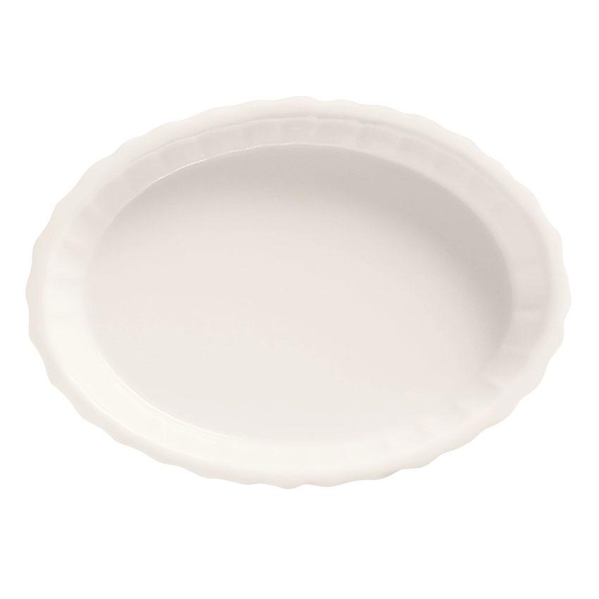 World Tableware CB-004 4-oz Oval Creme Brulee Dish, White, Bedrock Ovenware, Ultima