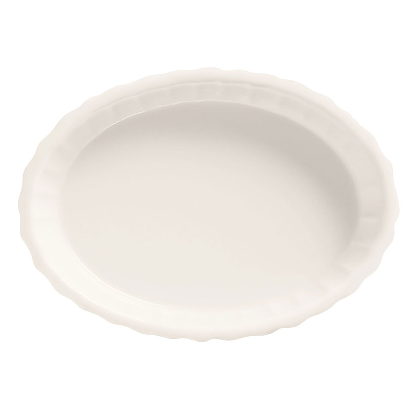 World Tableware CB-006 6-oz Oval Crème Brulee Dish - Porcelain, Bright White