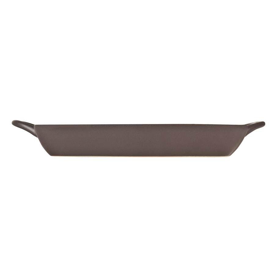 World Tableware CBB-002 13-oz Coos Bay Rectangular Tray with Handles - Ceramic, Butter