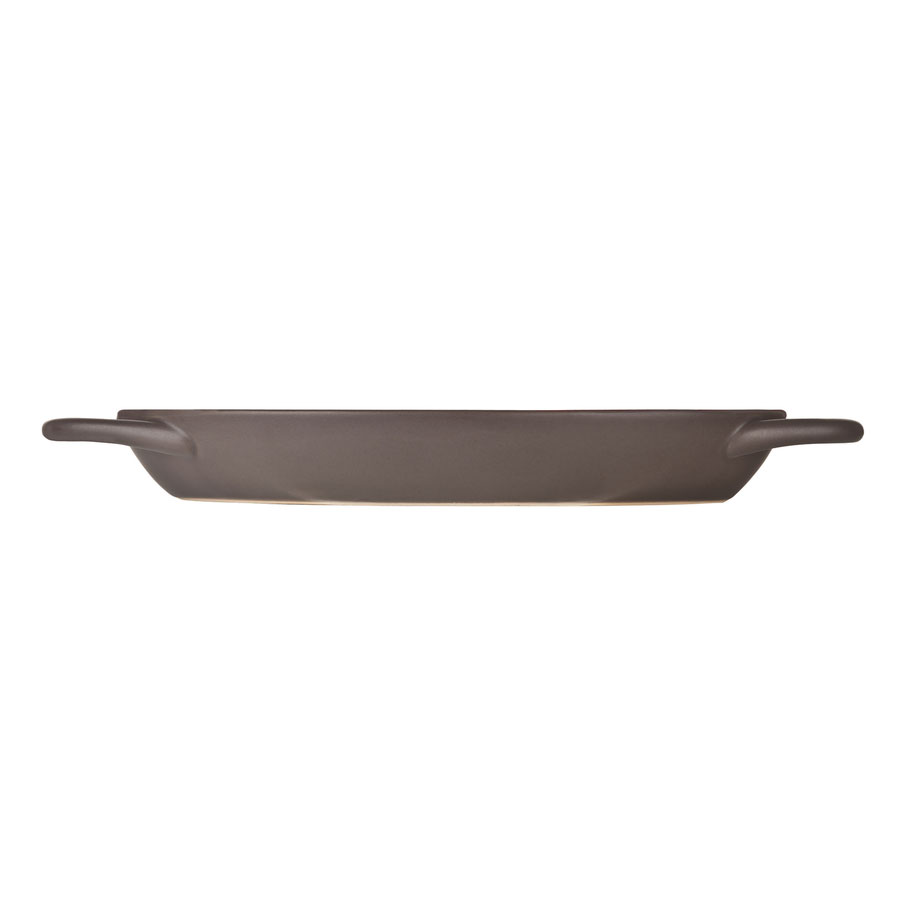 World Tableware CBC-001 4-oz Coos Bay Oval Tray with Handles - Ceramic, Chili
